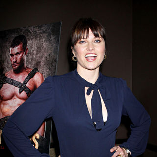 Lucy Lawless in The New York premiere of 'Spartacus: Blood and Sand'