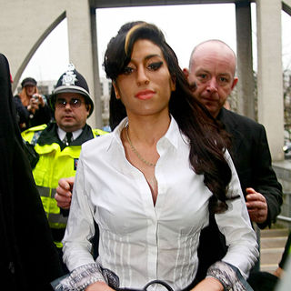 Amy Winehouse in Amy Winehouse arriving at Milton Keynes Magistrates Court