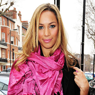 Leona Lewis - Leona Lewis arriving at the BBC Studios in Maida Vale to appear on the Live Lounge