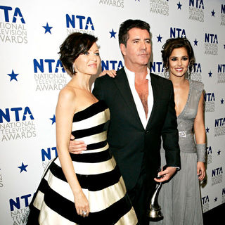 Dannii Minogue, Simon Cowell, Cheryl Cole in National Television Awards - Press Room