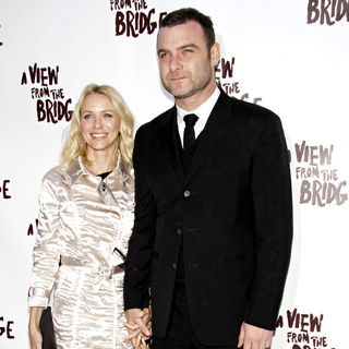 Liev Schreiber, Naomi Watts in After party for the Opening night of 'Arthur Miller's A View From The Bridge'