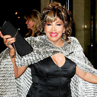 Tina Turner in The Armani Haute Couture Spring/Summer 2010 Fashion Show