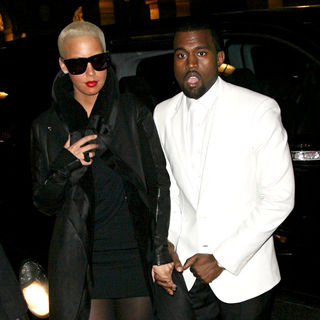 Amber Rose, Kanye West in Paris Fashion Week Haute Couture Spring/Summer 2010 - Givenchy - Arrivals