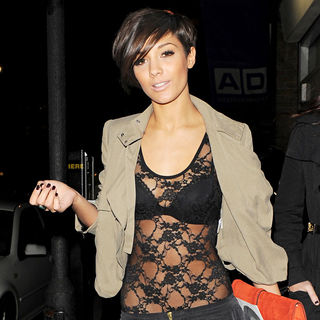 Frankie Sandford, The Saturdays in Leaves the 'Help For Haiti' party held at Circus Restaurant