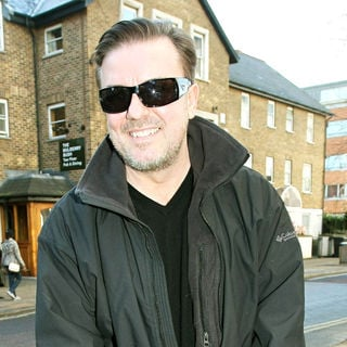 Ricky Gervais in Celebrities outside the ITV television studios