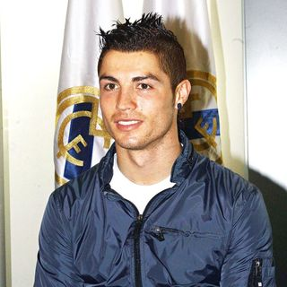 Cristiano Ronaldo in Press Conference announcing an agreement between Real Madrid and their home city's communities