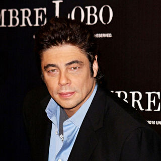 Benicio Del Toro in The 'Wolfman' photocall