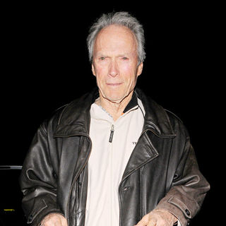 Clint Eastwood in Clint Eastwood leaves The Only Running Man pub in Mayfair with his wife Dina Ruiz