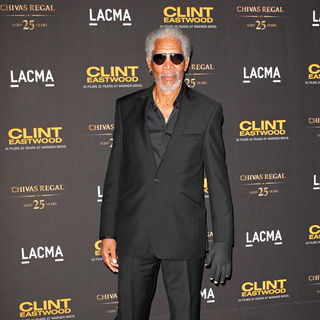 Morgan Freeman in LACMA and Warner Bros present An Evening with Clint Eastwood