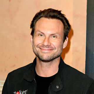 Christian Slater in Celebrities at PokerStars.net North American Poker Tour At The Venetian