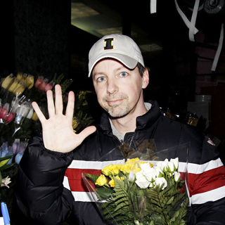 Sean Hayes in Sean Hayes buying flowers on Eighth Avenue after rehearsing for his Broadway musical
