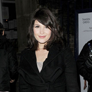 Gemma Arterton leaving the Garrick Theatre, having performed in 'The Little Dog Laughed'