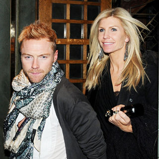 Ronan Keating, Yvonne Connolly in Ronan Keating Leaves The Ivy Restaurant and Night Club with Yvonne Connolly