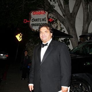 Simon Monjack in Simon Monjack leaves Chateau Marmont with an unknown female