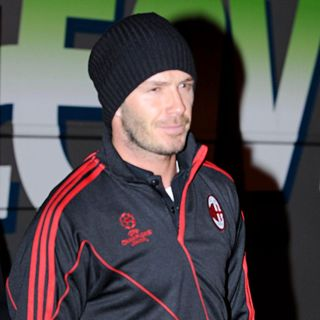 David Beckham in David Beckham Returns to Old Trafford as A AC Milan Football Player