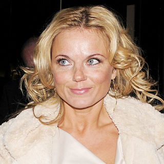 Geri Halliwell in Geri Halliwell leaving the Adelphi theatre