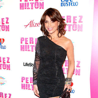 Paula Abdul in Perez Hilton's 'Carn-Evil' Theatrical Freak and Funk 32nd birthday party - Arrivals