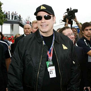 John Travolta in The Australian Formula 1 Grand Prix