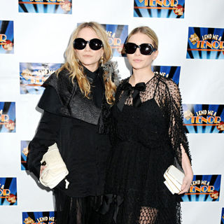 Mary-Kate Olsen, Ashley Olsen in The Opening Night of The Broadway Play 'Lend Me A Tenor'