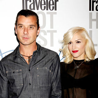 Gavin Rossdale, Gwen Stefani in Conde Nast Traveler Hot List Party