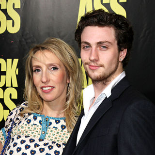 Sam Taylor-Wood, Aaron Johnson in The Los Angeles Premiere of 'Kick-Ass'