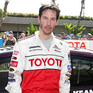 Keanu Reeves in The Toyota Pro/Celebrity Race Qualifying