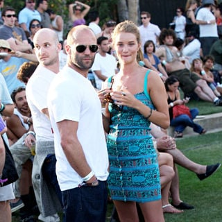 Jason Statham, Rosie Huntington-Whiteley in The 2010 Coachella Valley Music and Arts Festival - Day 3