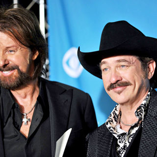 Brooks & Dunn in The 45th Annual Academy of Country Music Awards - Press Room