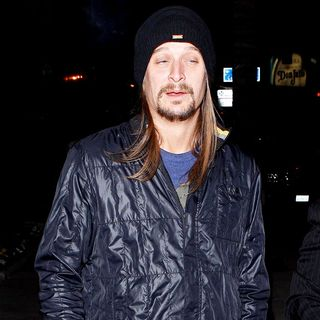 Kid Rock in Kid Rock leaving Trousdale night club with a cigar