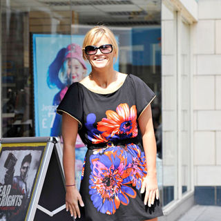 Kerry Katona in Kerry Katona shops in her local Town Centre