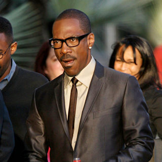 Eddie Murphy in Eddie Murphy meets with fans for the launch of Shrek 3D