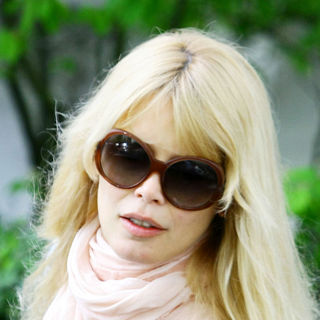 Claudia Schiffer in Claudia Schiffer After Taking Her Children to School