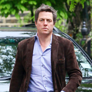 Hugh Grant Heading to A Restaurant