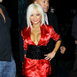 Tila Tequila in Tila Tequila arriving at LAX Nightclub at Luxor Resort Casino in Las Vegas