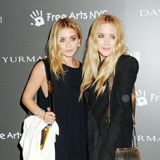 Mary-Kate Olsen, Ashley Olsen in The Free Arts NYC 12th Annual Art Auction