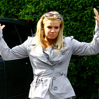 Kerry Katona in Kerry Katona Accompanied by A Film Crew, Goes for Lunch at A Beefeater Restaurant