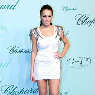 Lindsay Lohan - The Chopard 150th Anniversary Party - Inside Arrivals during The 63rd Annual Cannes Film Festival