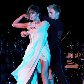 Cheryl Cole, Derek Hough in Cheryl Cole Performing Her Last Show of Her UK Tour