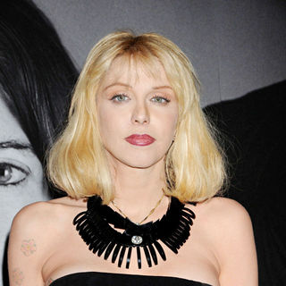 Courtney Love in Givenchy Celebrates The Closing of Marina Abramovic's 'The Artist is Present' - Arrivals