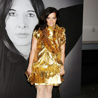 Bjork in Givenchy Celebrates The Closing of Marina Abramovic's 'The Artist Is Present' - Arrivals