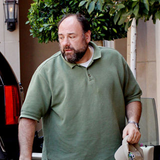 James Gandolfini Celebrities leaving a gifting suite