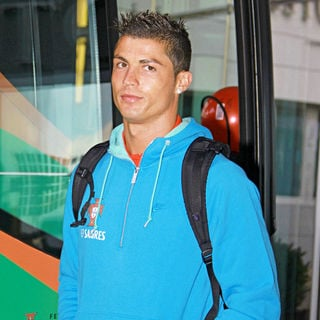 Cristiano Ronaldo in Portuguese Football Players Attend Their Final Training Session