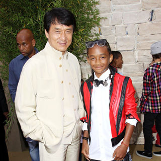 Jackie Chan, Jaden Smith in The LA Premiere of 'The Karate Kid'