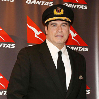 John Travolta in John Travolta Arrives in Buenos Aires on A Promotional Tour as A Qantas Airlines Ambassador