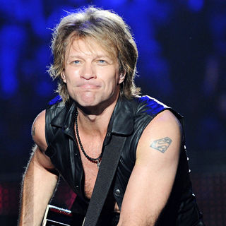Jon Bon Jovi in Bon Jovi Performing at Palais Omnisport of Paris-Bercy