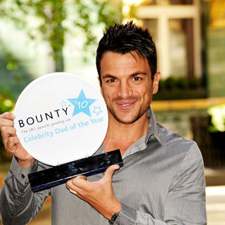 Peter Andre in Peter Andre is Crowned Bounty Celebrity Dad of The Year 2010