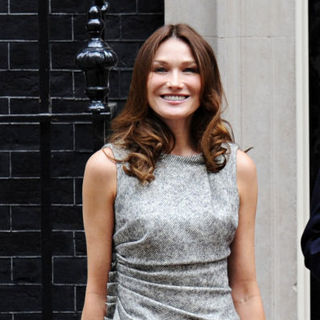 Carla Bruni Visits 10 Downing Street to Have Lunch with David Cameron