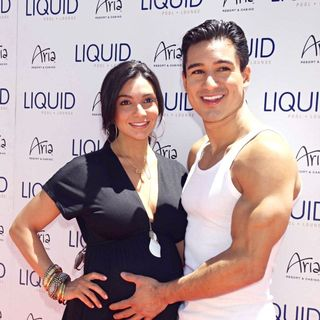 Courtney Mazza, Mario Lopez in Mario Lopez Hosts The Day at Liquid Pool Lounge