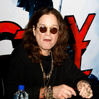 Ozzy Osbourne in Ozzy Osbourne Signs Copies of His New Album 'Scream'