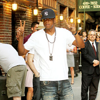 Jay-Z - Jay-Z Outside The Ed Sullivan Theatre for The 'Late Show With David Letterman'